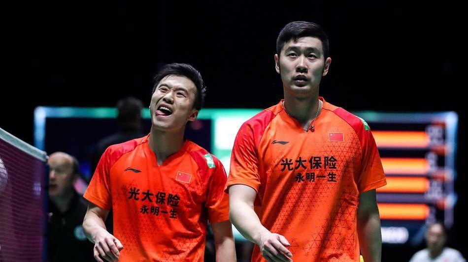 2020全英羽毛球公开赛男双次轮,刘成+黄凯祥2-1李俊慧+刘雨辰