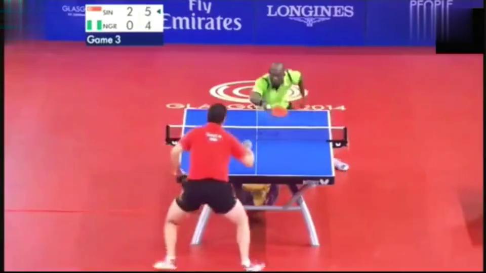 黑人乒乓球中的王者,捍卫独自一人的荣耀,赛场依然值得敬佩!