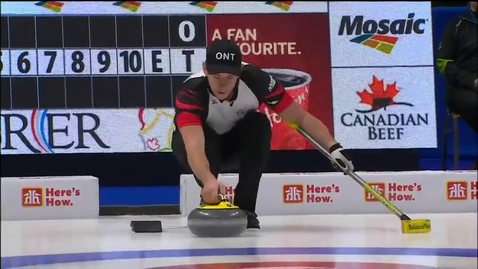 加拿大冰壶Brier赛MattCamm超长传击双飞