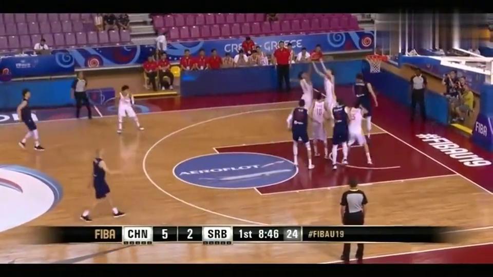 男篮世界杯,中国男篮vs塞尔维亚,徐杰妙传!