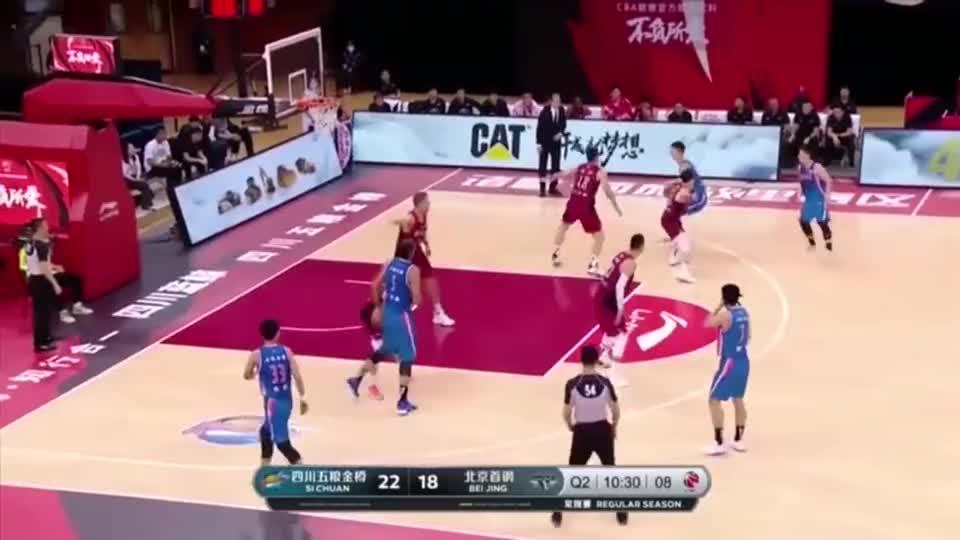 CBA:朱松玮14分,关键2+1助四川队爆冷胜北京队!