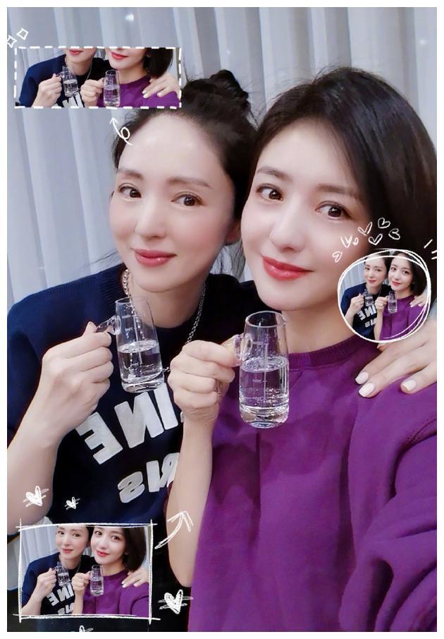 佟丽娅董璇合体拍照似双胞胎姐妹