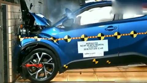 视频:最新款的丰田CHR安全性如何,看完这个测试你就知道了!