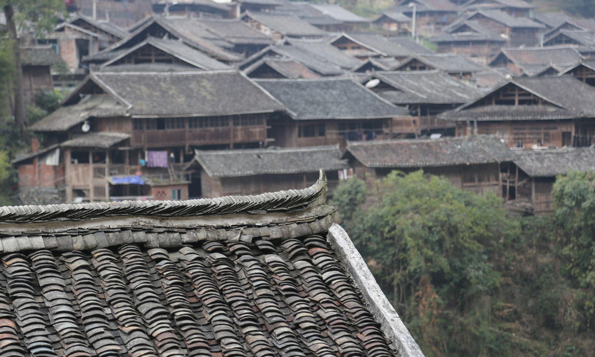 贵州乌公侗寨吊脚楼是侗民居室,是当地建筑特有的风格