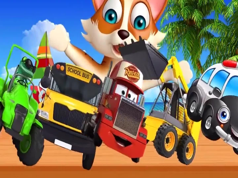 熊把不同类型的车辆拿走了,少儿益智早教动画