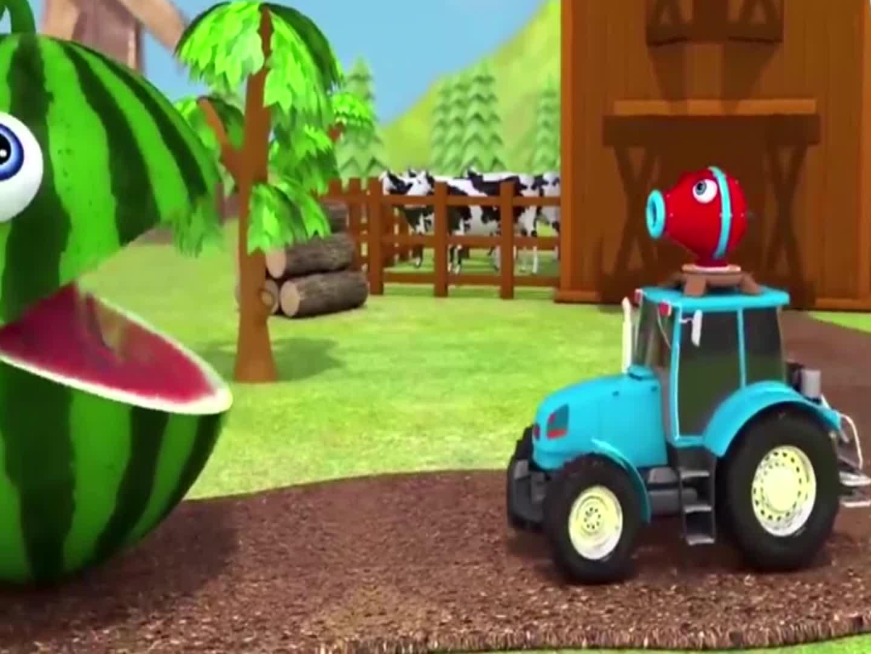 大球球吃拖拉机,豌豆射手喷射的巧克力豆,学颜色