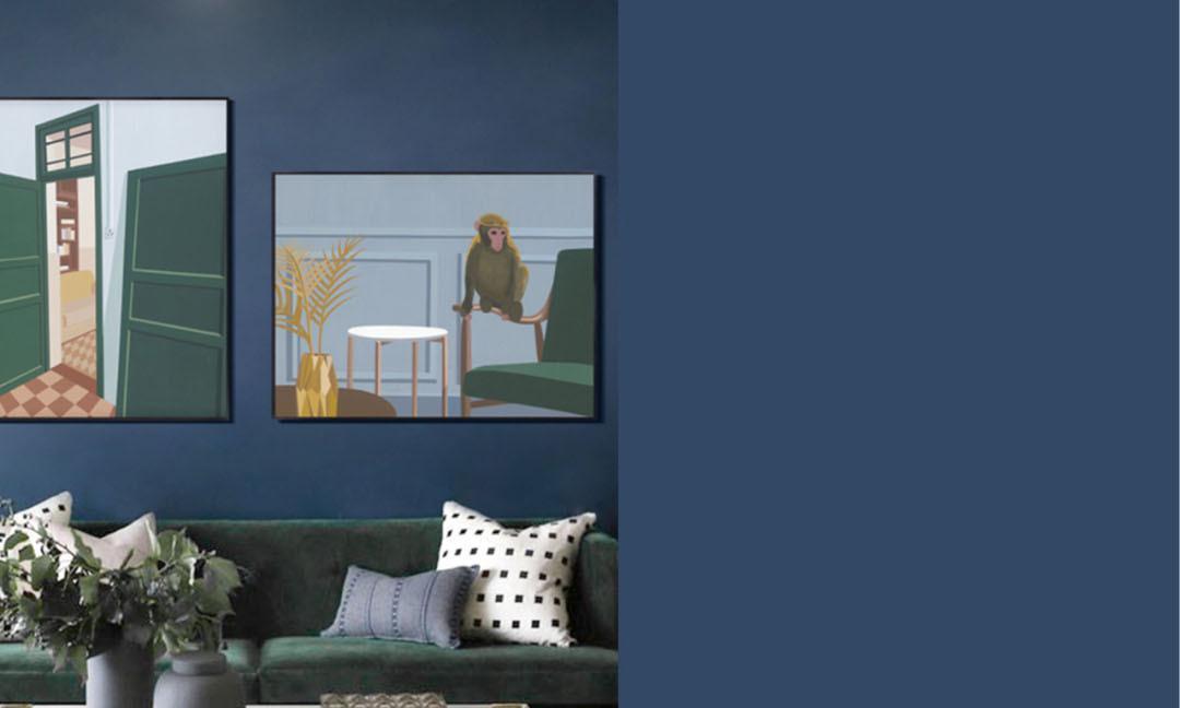 装修必备,非常漂亮的12个蓝色系墙面配色