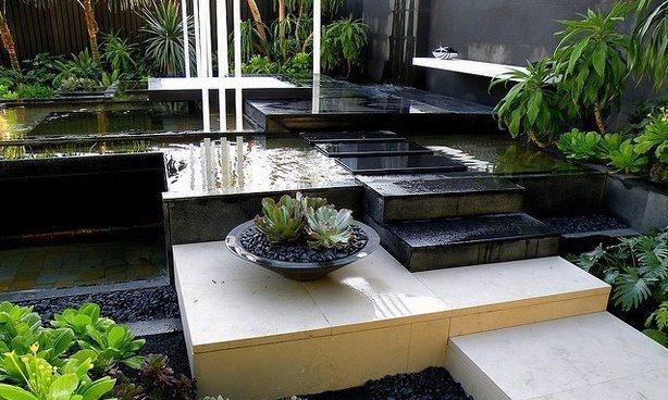 """12个别墅""""花园水景""""设计,创意十足,庭院美不美全靠它了"""