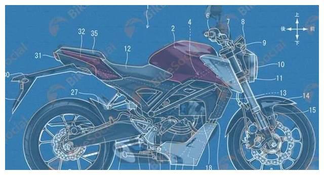 本田将基于街车平台,推出新能源摩托车,中置水冷电机链条传动