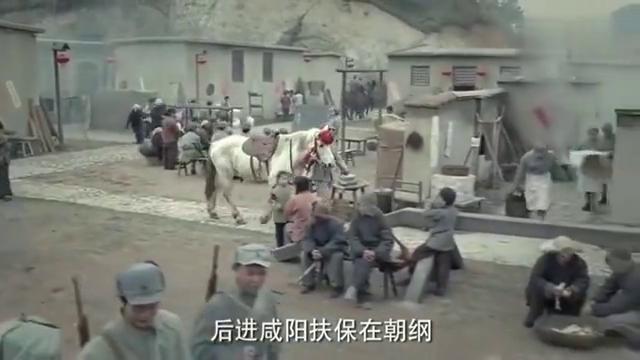 小伙太高兴了,牵着白马唱着歌,打扮好马是给男子骑的