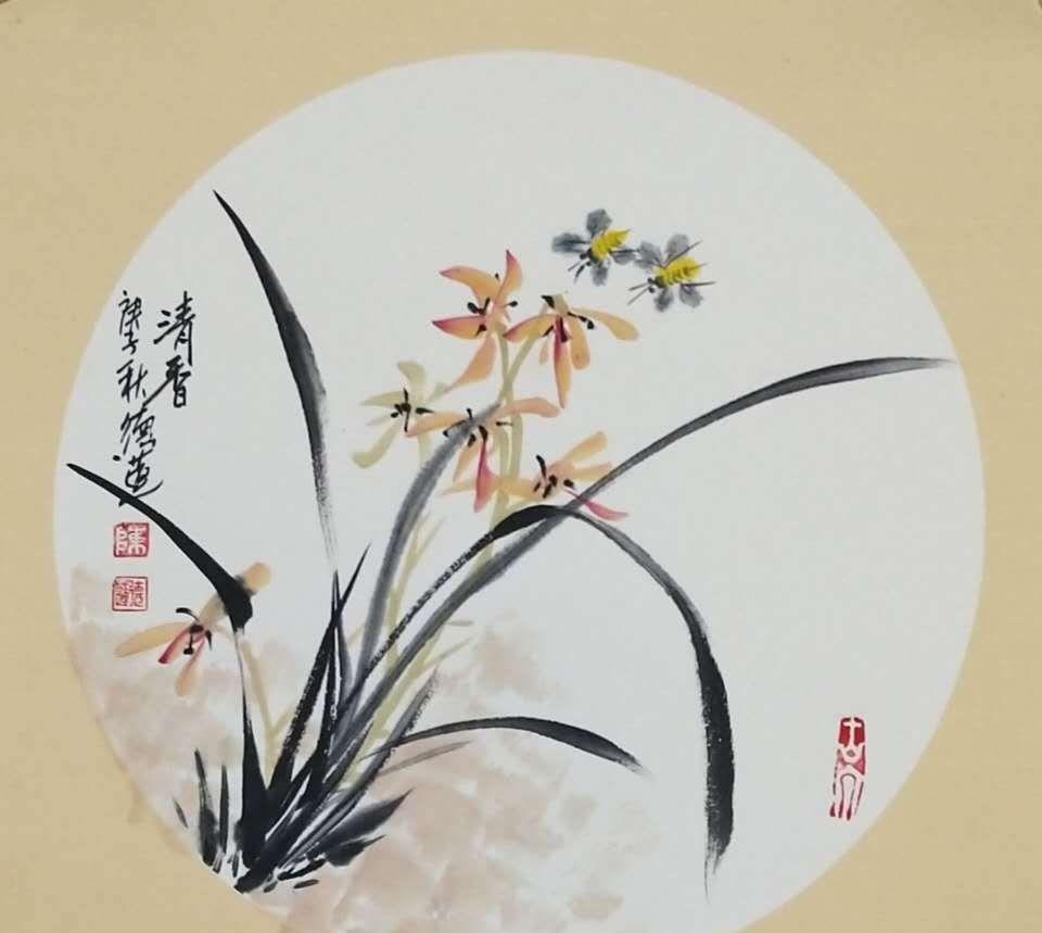 陈德莲重阳节画作
