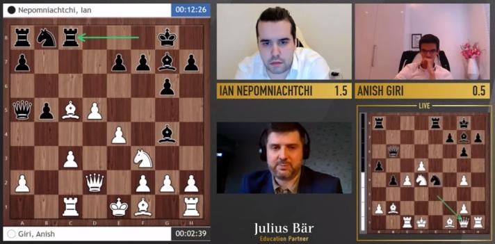国际象棋传奇明星赛首场半决赛 卡尔森和涅波获胜