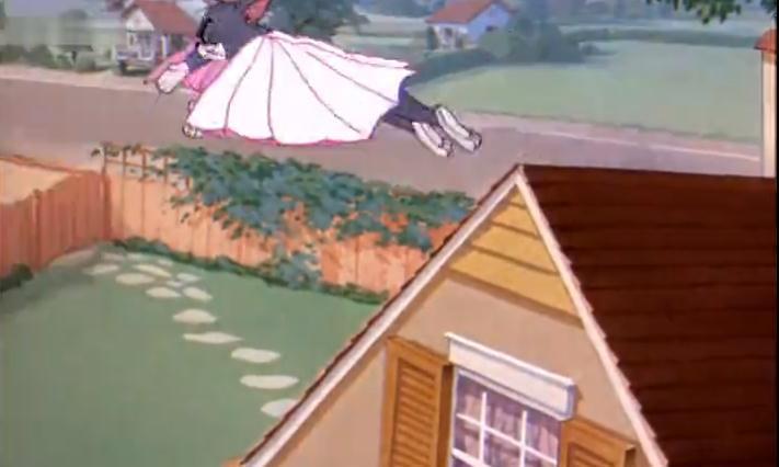 猫和老鼠:汤姆绕着鸟屋飞了一圈又一圈:等你们出来就捉你们俩!