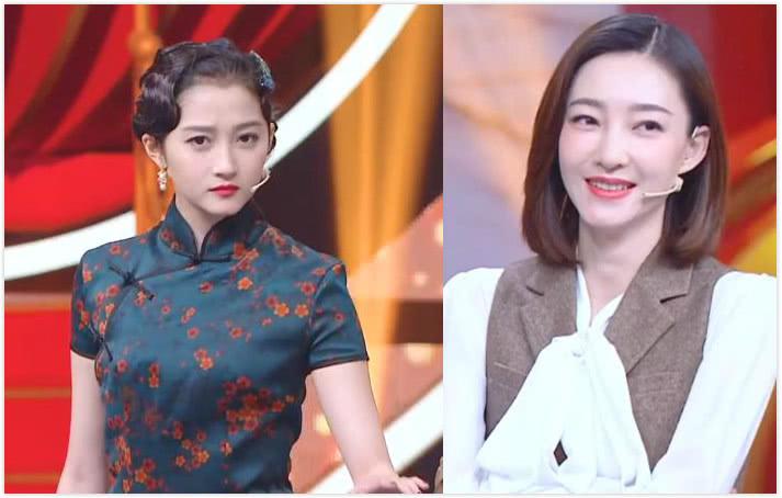 关晓彤拉王丽坤跳舞,同穿修身旗袍、化浓妆,不是小13岁就稳赢