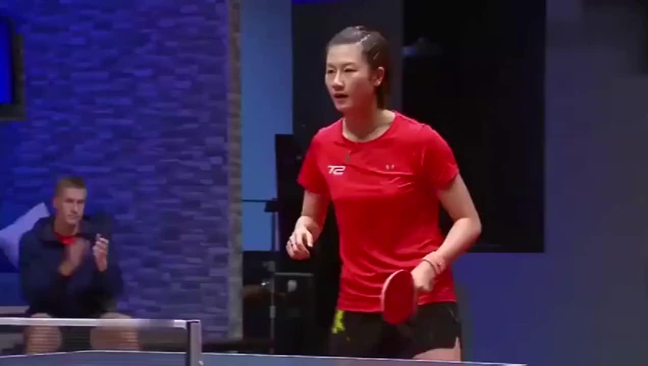 这表情霸气!丁宁让韩国一姐梁夏银得了一分后,作出了这种表情!