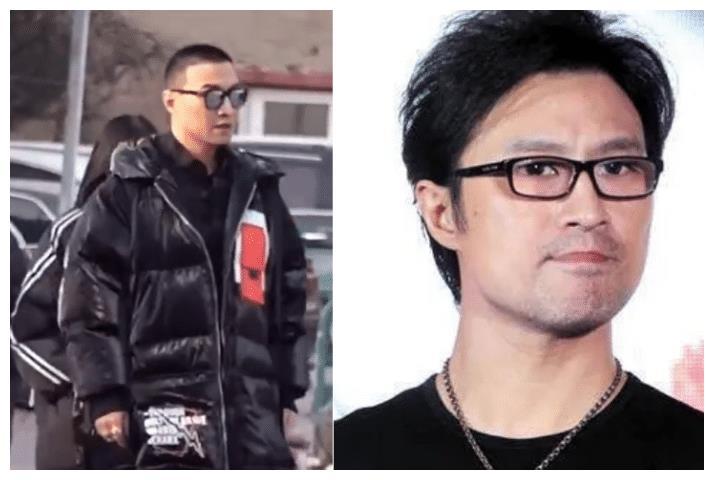 49岁汪峰突然剃寸头,穿黑衣戴墨镜出门,不愧是章子怡爱的男人