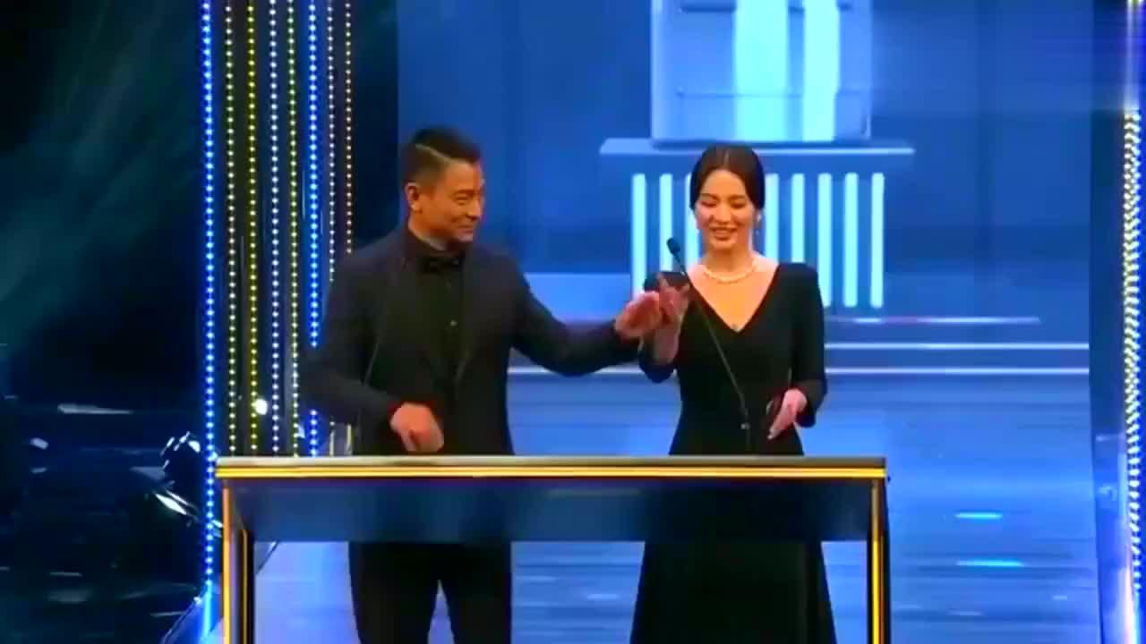 刘德华宋慧乔出席颁奖嘉宾第38届香港电影,金像奖颁奖