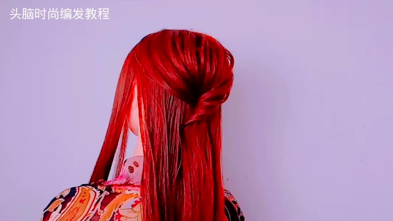 今年流行的新娘盘发简单易学适合中长发女人的发型