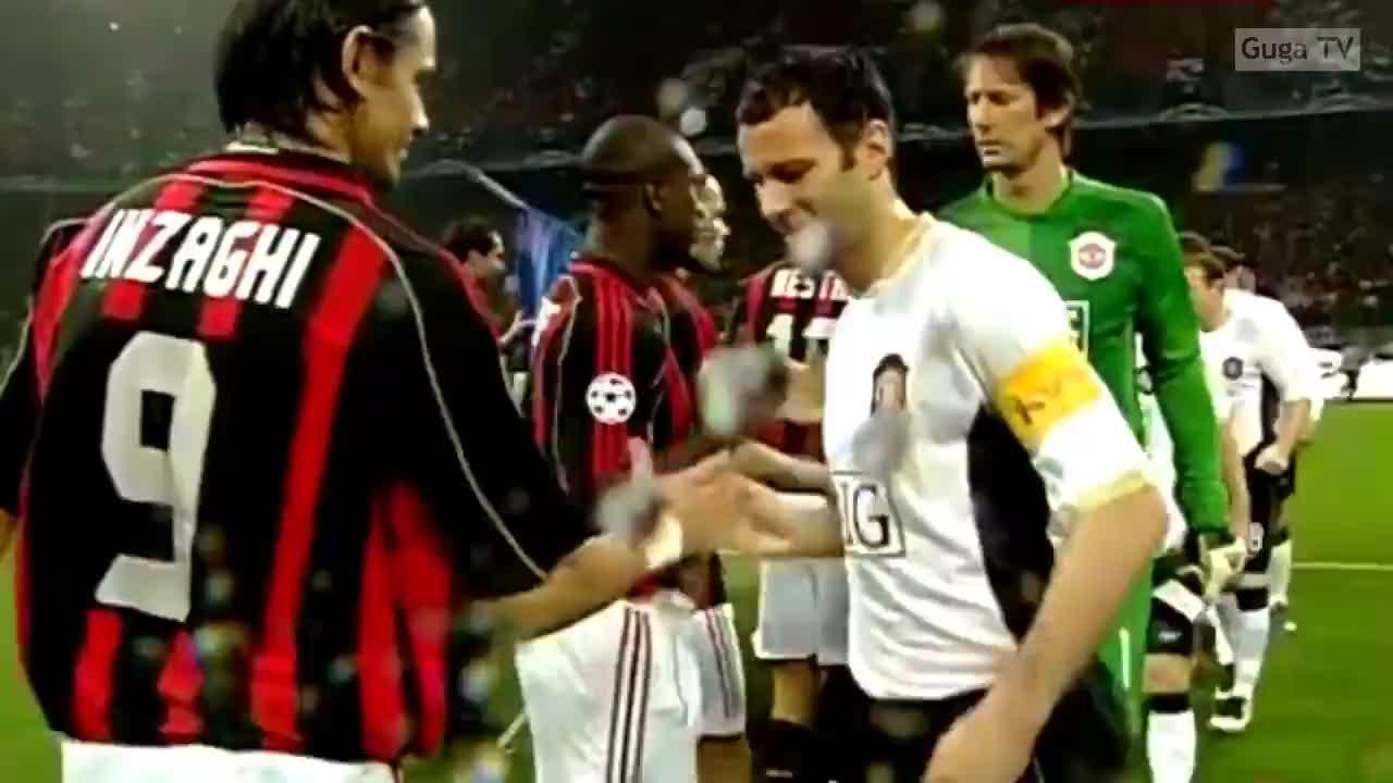 【经典回顾】卡卡传射!06-07欧冠半决赛 AC米兰3-0曼联