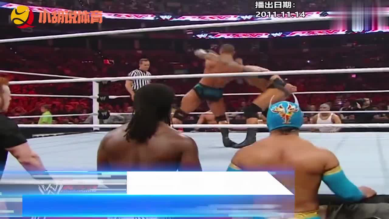 WWE经典比赛回顾:兰迪奥顿VS韦德巴雷特,双方演变成多人大混战