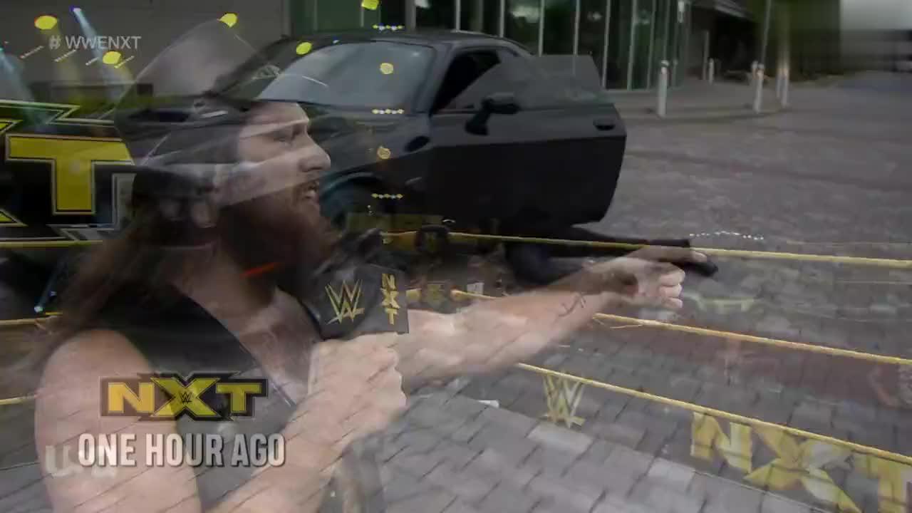 NXT569:卡麦伦的对手达米安普里斯特 赛前遭到偷袭 硬气带伤上阵