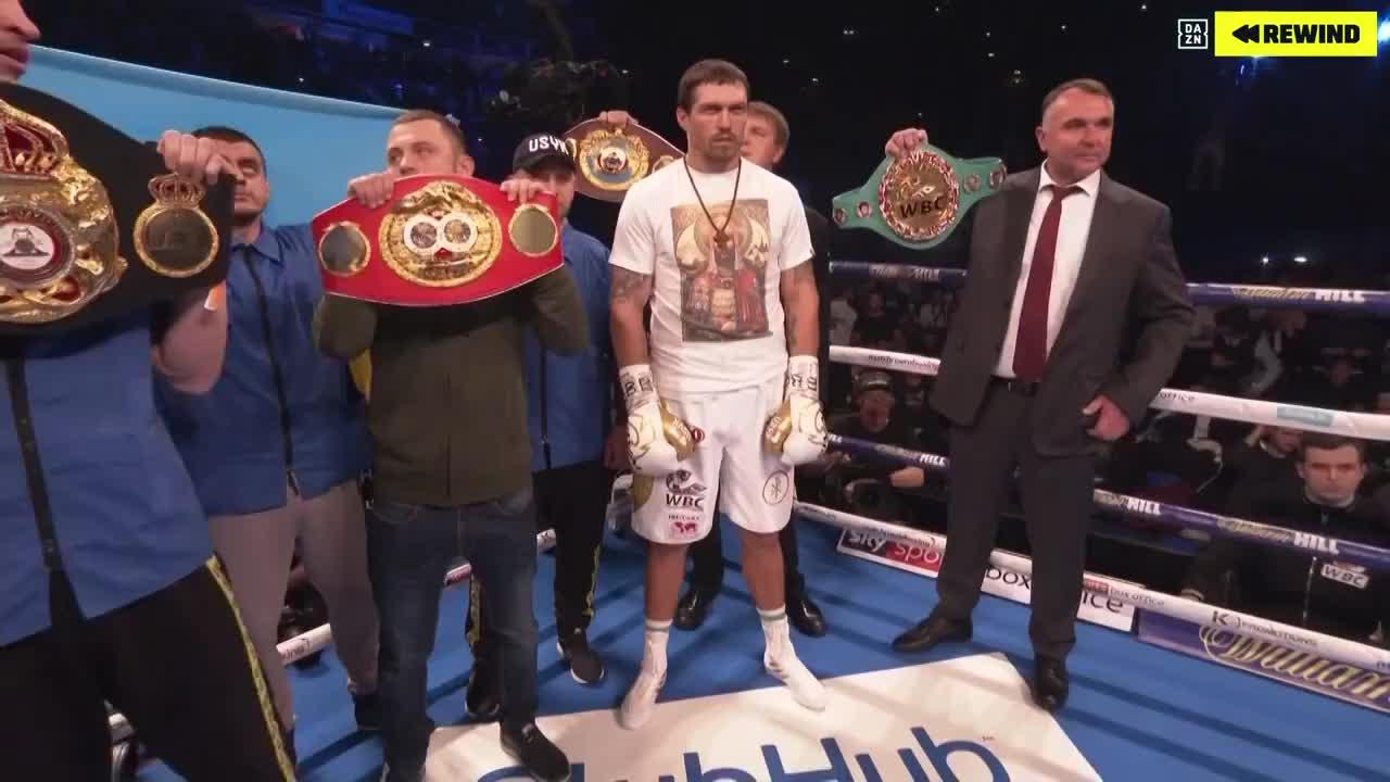 这一战乌西克重拳KO贝卢强势卫冕,扫清了该级别所有顶级高手