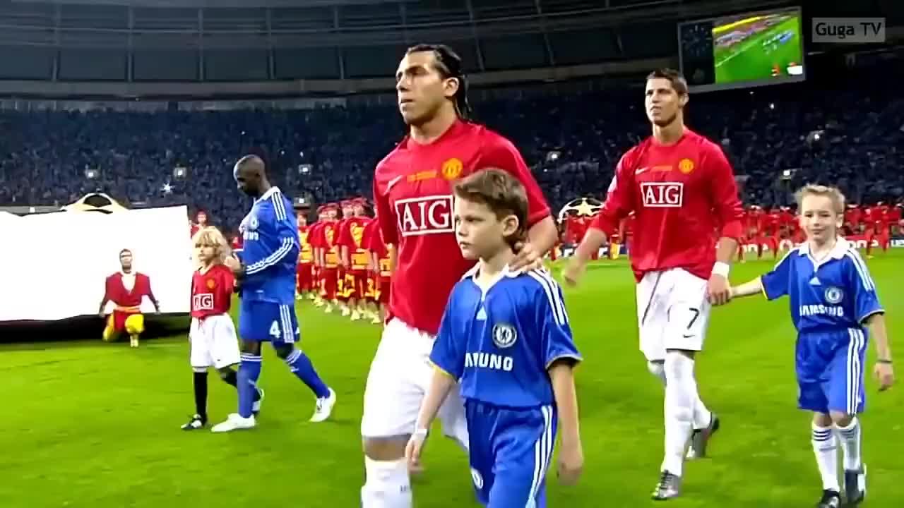 08年欧冠决赛英超内战 曼联点球大战6-5击败切尔西