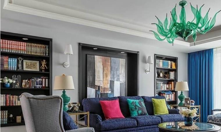 124平米三居室的混搭风格案例,全包只花9万!-河东小区装修
