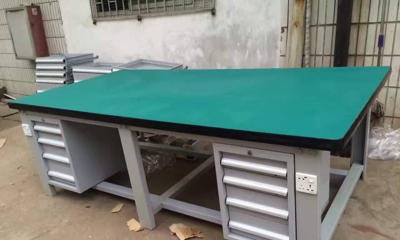 A+模具重型钳工桌_学校台钳装配桌_科教模具实训桌