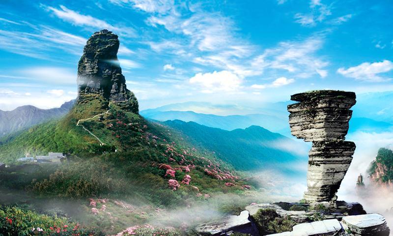 到贵州铜仁梵净山,可以看到红云金顶的奇观,还有中国最古老温泉