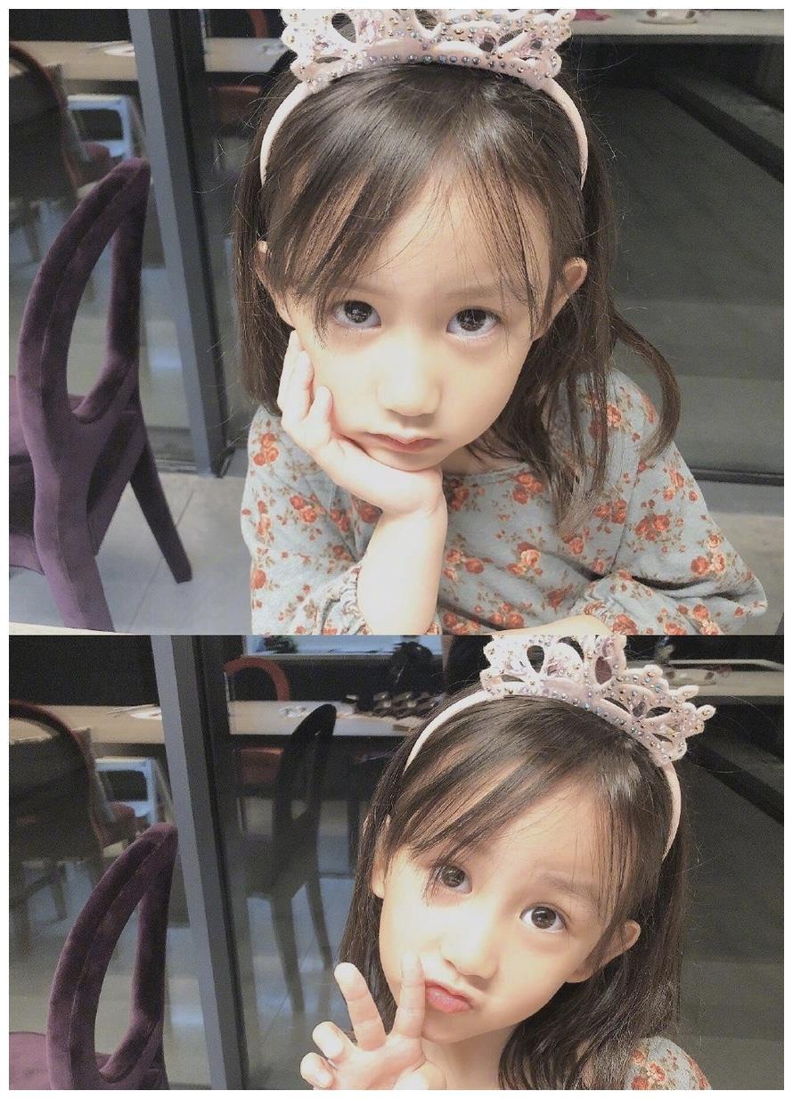 黄磊老婆孙莉晒妹妹照片,穿碎花裙配妈妈高跟鞋,小小年纪真爱美