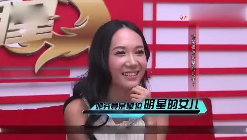 帅气星二代一上场,张咪女儿就发出感叹:好像毛宁啊
