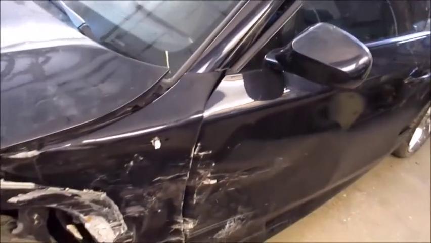 宝马车前端修复,师傅能修的看不出痕迹,技术也是溜得不行!