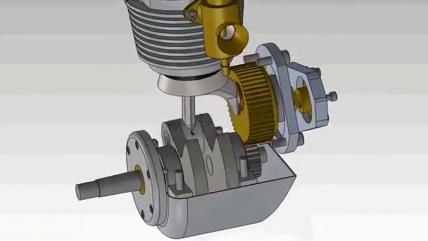 见识一下3D摩托车发动机工作原理、怪不得速度这么快