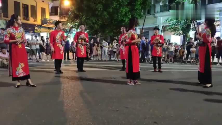 越南街头小姐姐用传统乐器二胡演奏渡我不渡他,这才是街头艺术家