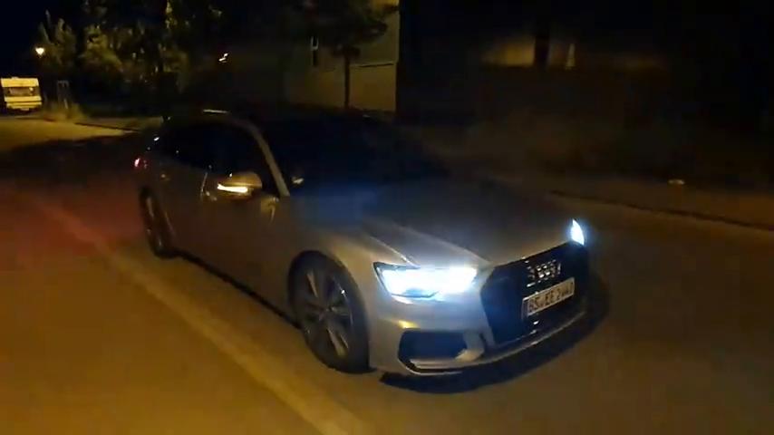 视频:夜晚实拍2020款奥迪A6Avant,打开氛围灯才是豪华的开始