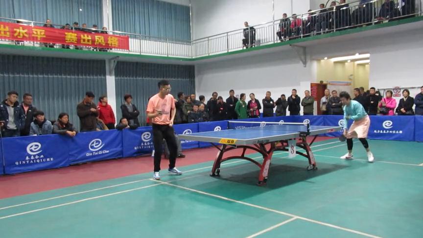 魅力秦泰乒羽俱乐部乒乓球周年庆典赛决赛:国锋队VS归零一队