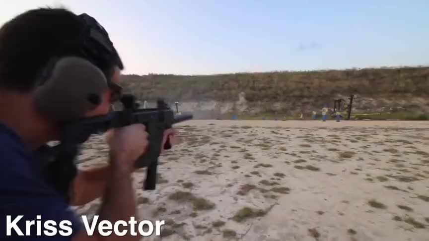 多种武器靶场射击实测,论射速还是格洛克、UZI