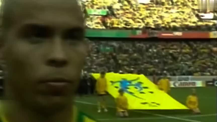 五星巴西世界杯百大进球 罗纳尔多飞身垫射展现杀手本色