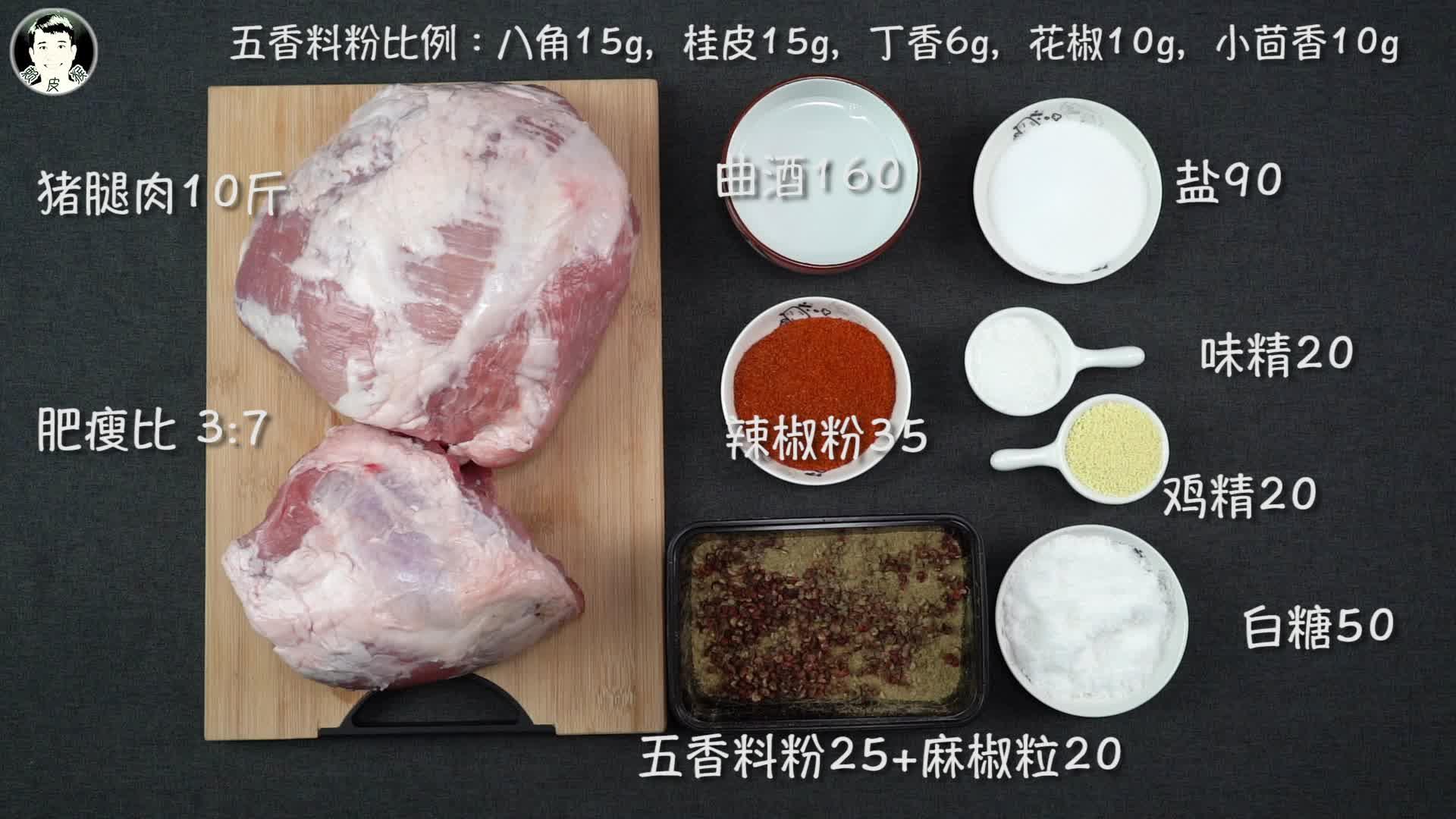 「赖皮猴」川式麻辣香肠 调料配方 制作过程技巧 干货分享