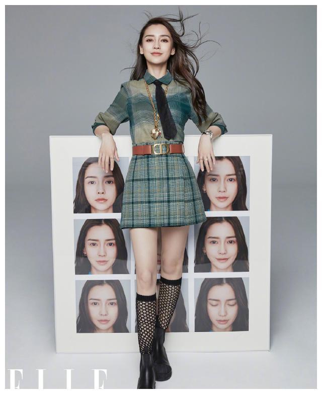 名门泽佳:杨颖8月杂志封面曝光,镜像式互动拍摄效果时尚力满满