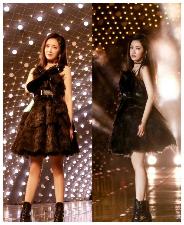 王艺瑾黑天鹅造型舞台照