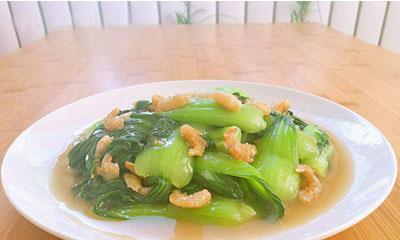 大厨教你做海米油菜,不用酱油,清淡好吃还易学!
