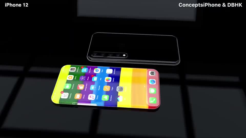 iPhone 12 Pro 概念设计:无边框、无按键,真正