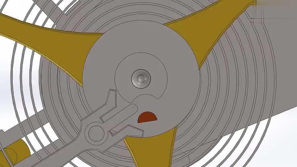 动画展示机械表内部结构,齿轮配合简直天人之作,男人毫无抵抗力