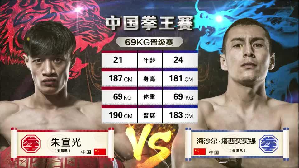 中国拳王赛:安徽朱宣光对上天津塔西买买提,谁将笑到最后!