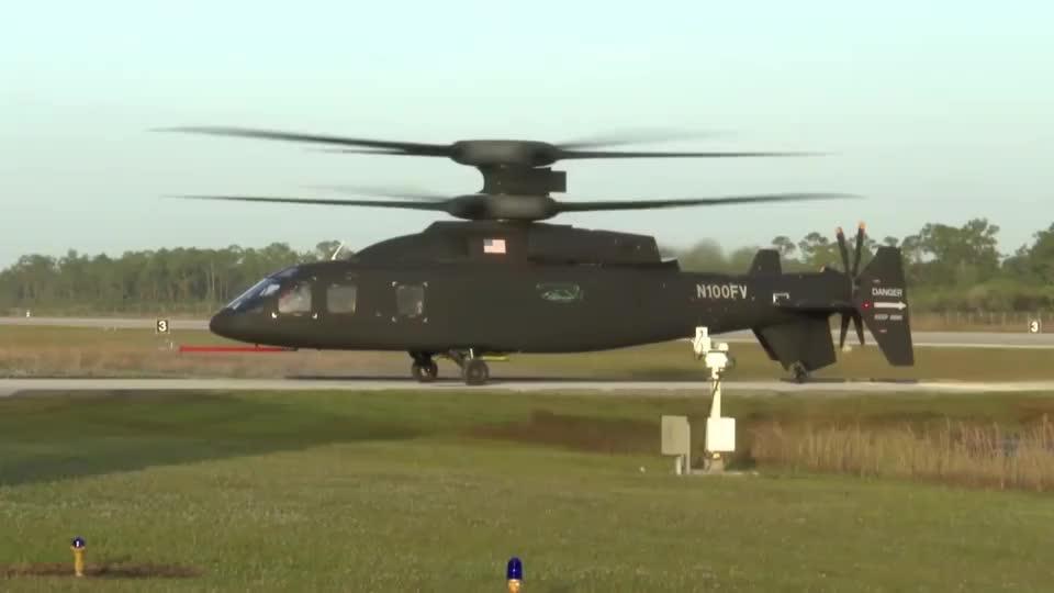 实拍美军西科斯基波音SB-1直升机,黑鹰的继承者!