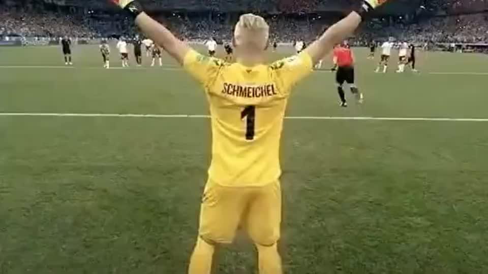小舒梅切尔扑出的那一刻,老舒梅切尔多开心呀!