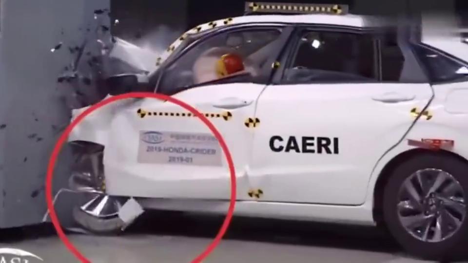 视频:本田凌派安全测试,汽车高速车顶碰撞测试效果!