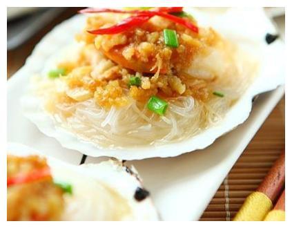 大厨家常美食:蒜蓉粉丝蒸扇贝,西红柿鸡蛋汤,口水鸡的做法